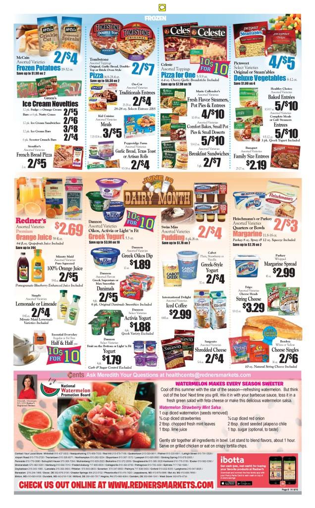 Redners Warehouse Market ad with Watermelon Board Recipe