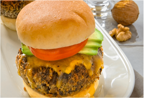 walnut bean burger