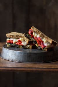 roasted-red-pepper-broccolini-grilled-fontina