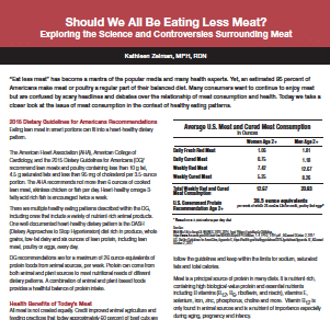 Should We All Be Eating Less Meat?