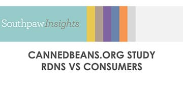 What RDNs know about canned beans vs what consumers know about canned beans